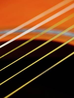 Sextet Photograph - Guitar Strings by Science Photo Library