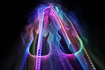 Musical Imagery Photograph - 2 Guitars 6 by Patrick Daniel Trombly