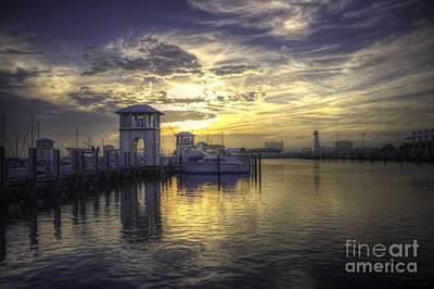 Art Print featuring the photograph Gulfport Harbor by Maddalena McDonald