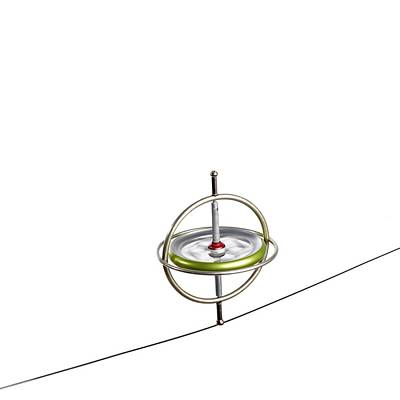 Gyroscope Balancing On A Wire Art Print by Science Photo Library