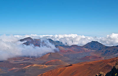 Abstract Graphics - Haleakala Volcano and Crater Maui Hawaii  by Marek Poplawski