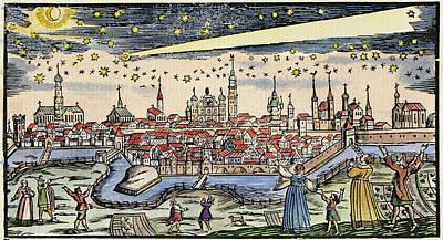 Halley's Comet, 1680 Art Print by Granger