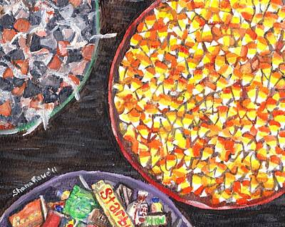 Painting - Halloween Candy by Shana Rowe Jackson