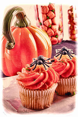 Candy Corn Digital Art - Halloween Cupcakes And Other Goodies by Vizual Studio