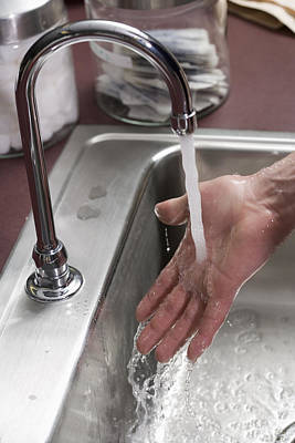 Hand Washing Photograph - Hand Washing With Antibacterial Soap by Science Stock Photography