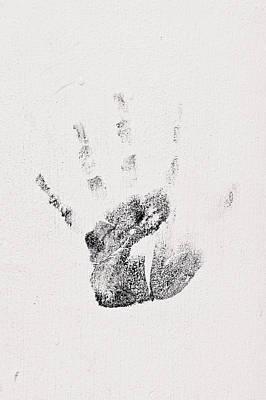 Handprint Art Print by Tom Gowanlock