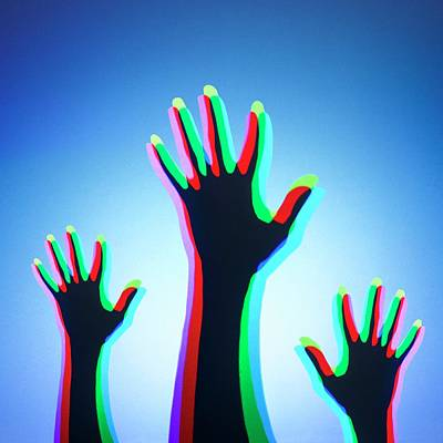 Hands With Colour Mixing Art Print