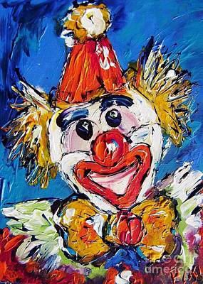Clown Painting - Have A Good Laugh  by Mary Cahalan Lee- aka PIXI