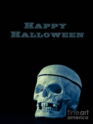Skull Photograph - Happy Halloween Card 2 by Edward Fielding
