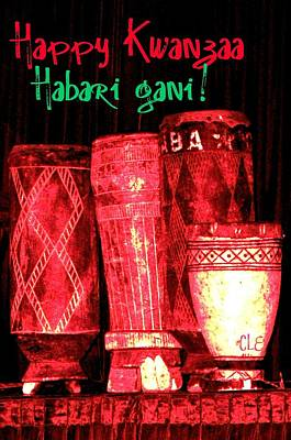 Photograph - Happy Kwanzaa Habari Gani by Cleaster Cotton