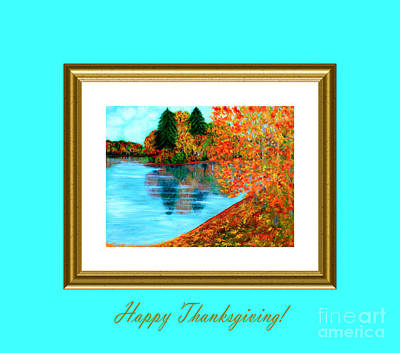 Digital Art - Happy Thanksgiving by Oksana Semenchenko