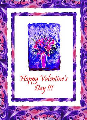 Irina Painting - Happy Valentines Day by Irina Sztukowski