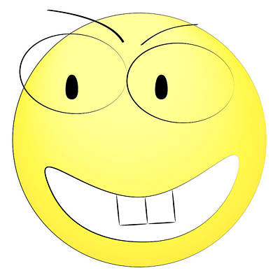Happy Yellow Smiley Art Print