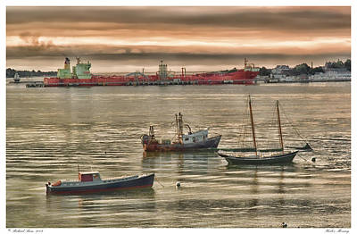 Art Print featuring the photograph Harbor Morning by Richard Bean