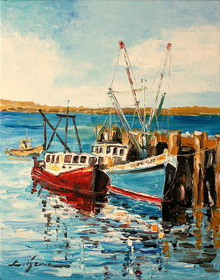 Painting - Harbour Impression by Luke Karcz