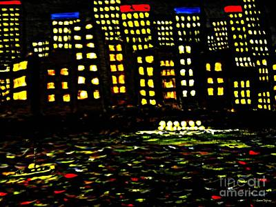 Painting - Harbour Lights by Leanne Seymour
