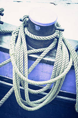 Harbour Rope Art Print by Tom Gowanlock