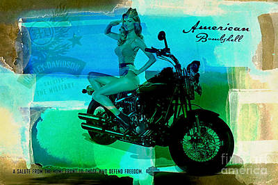 Mixed Media - Harley Davidson Ad by Marvin Blaine