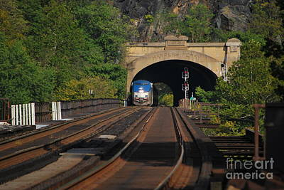 Photograph - Harpers Ferry Amtrak Series 4 Of 6 by Bob Sample