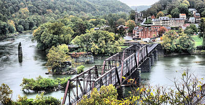Small Towns Photograph - Harpers Ferry by JC Findley