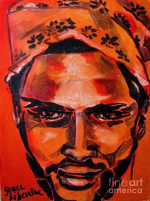 Painting - Hat Man - Portrait by Grace Liberator