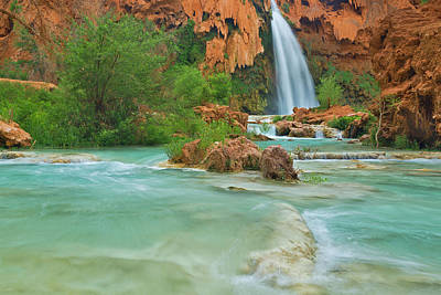 Havasupai Photograph - Havasu Falls On The Havasupai by Chuck Haney