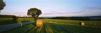 Bale Photograph - Hay Bales In A Field, Germany by Panoramic Images