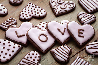 Photograph - Heart Cookies by Kati Finell