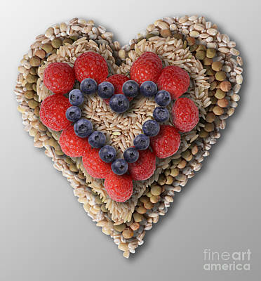 Heart Healthy Photograph - Heart-healthy Foods by Gwen Shockey