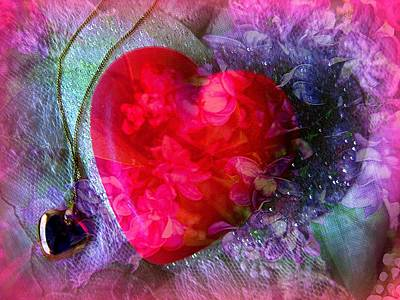 Heart Of My Heart Print by Shirley Sirois