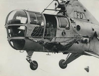 Helicopter Rescue - Royal Navy Adopts New Apparatus Art Print by Retro Images Archive
