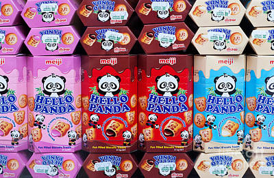 Photograph - Hello Panda Biscuits by Rick Piper Photography