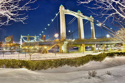 Hennepin Avenue Bridge Art Print by Jason Alexander