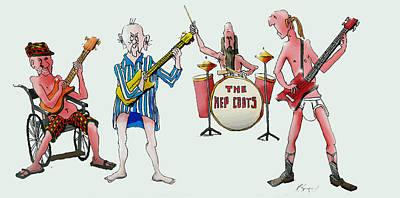 Sixties And Seventies Musicians Art Print
