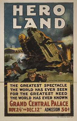 Battlefield Photograph - Hero Land Poster by Underwood Archives