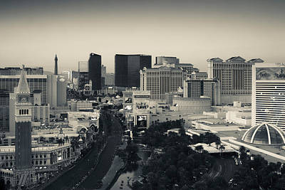 High Angle View Of A City, Las Vegas Art Print