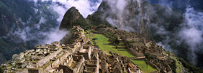 Inca Photograph - High Angle View Of An Archaeological by Panoramic Images
