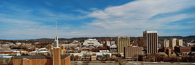 Chattanooga Photograph - High Angle View Of Downtown Buildings by Panoramic Images