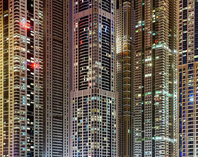 Photograph - High-rise Buildings At Dubai Marina by Jorg Greuel