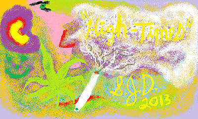 Digital Art - High Times by Joe Dillon