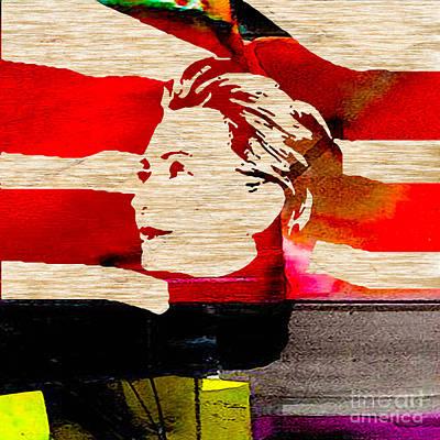 Hillary Clinton Art Print by Marvin Blaine
