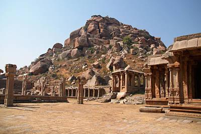 Polaroid Camera - Hindu Ruins at Hampi by Carol Ailles