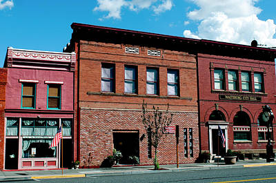 Storefront Photograph - Historic Buildings Along Main Street by Nik Wheeler