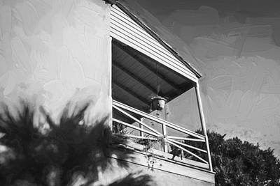 Photograph - Historic Homes Of St Augustine Painted Bw by Rich Franco