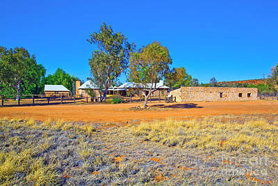 Historical Telegraph Station Alice Springs  Art Print by Bill  Robinson