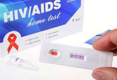 Acquired Photograph - Hiv Home Blood Test by Cordelia Molloy