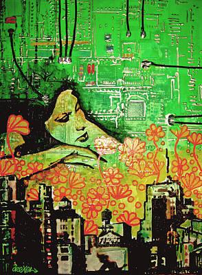 Nyc Mixed Media - Hive Mind 2.0 by Erica Falke