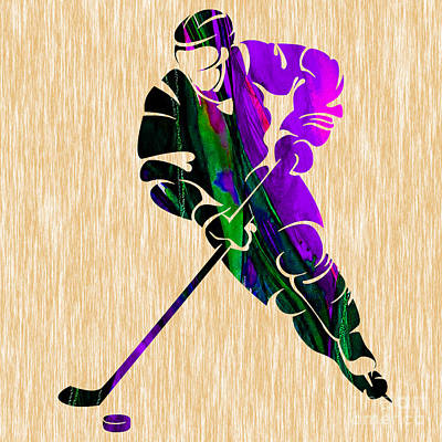 Ice Hockey Mixed Media - Hockey by Marvin Blaine