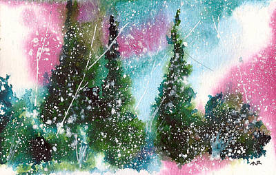 Winter Solstice Painting - Holiday Card 1 by Nelson Ruger