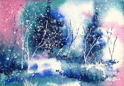 Winter Solstice Painting - Holiday Card 4 by Nelson Ruger